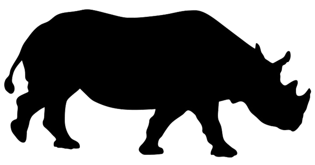 Rhino sugar silhouette cut out