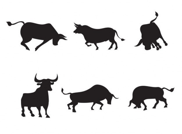 Mix of bulls sugar silhouette cut out