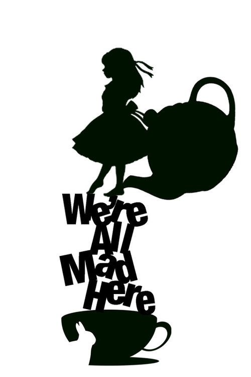 Alice we all mad here sugar silhouette cut out