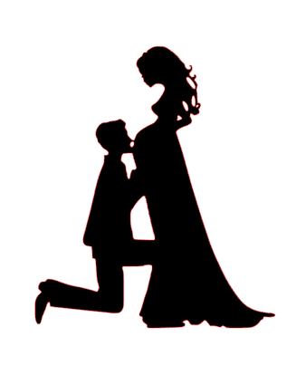 Mr & Mrs Pregnant bride cake card topper