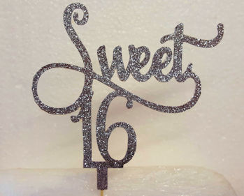 Sweet Age cake card topper