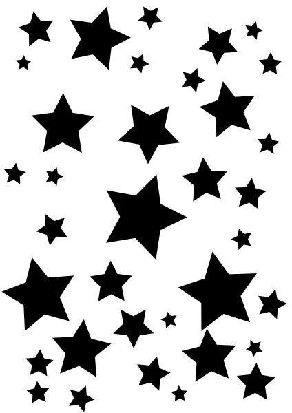 Mix of stars sugar silhouette cut out