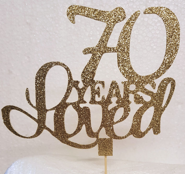 X Years loved cake card topper