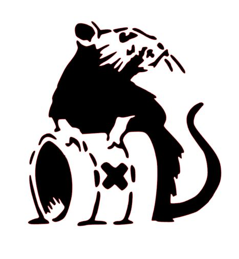 banksy mouse stencils cake decorating