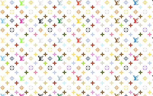 Louis Vuitton printed color sheet for bags and cake covering
