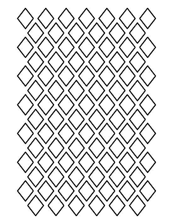 Diamond pattern stencil cake decorating