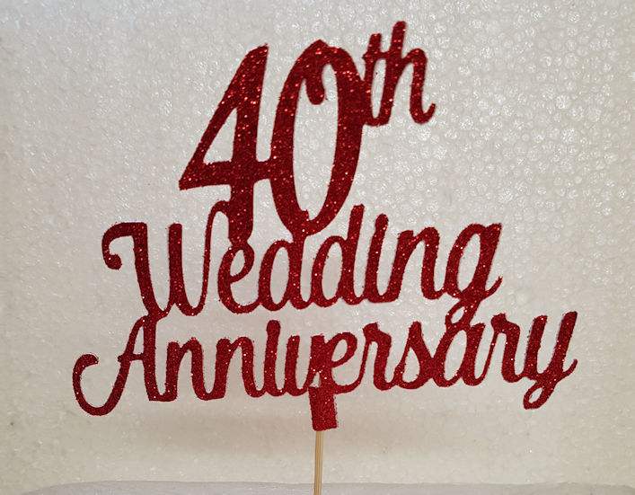 Any number Anniversary cake card topper