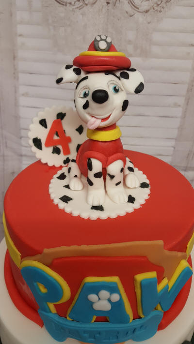 Marshall from paw patrol cake topper