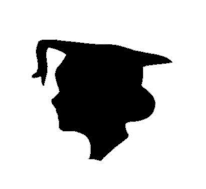 Graduation head silhouette cut out