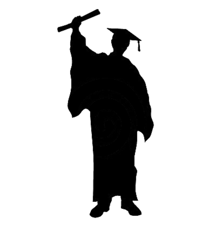 Male graduation Silhouette Cut out