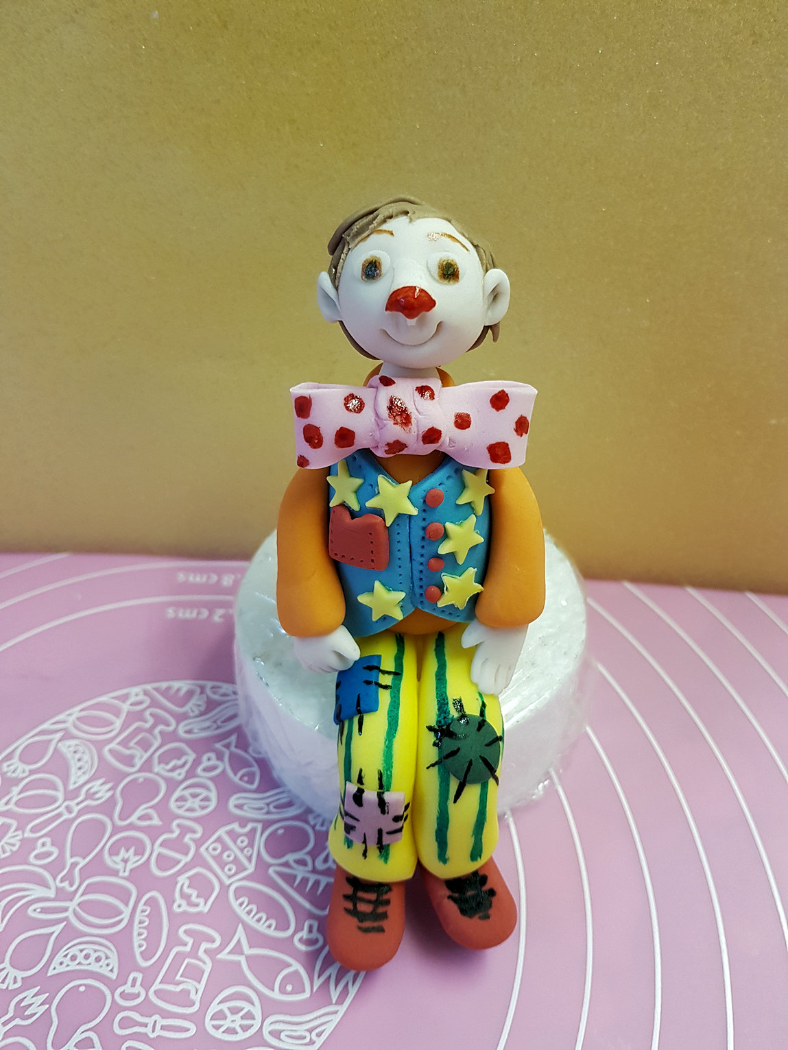 Mr Tumble cake topper handmade gumpaste