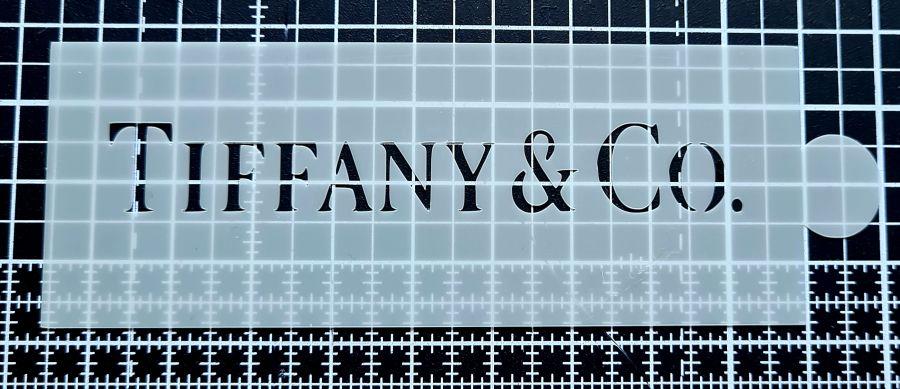 Tiffany & Co writing stencil