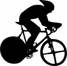 Tour De France sugar silhouette cut out