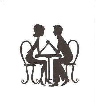 In love sugar silhouette cut outs