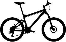 Mountain bike silhouette cut out
