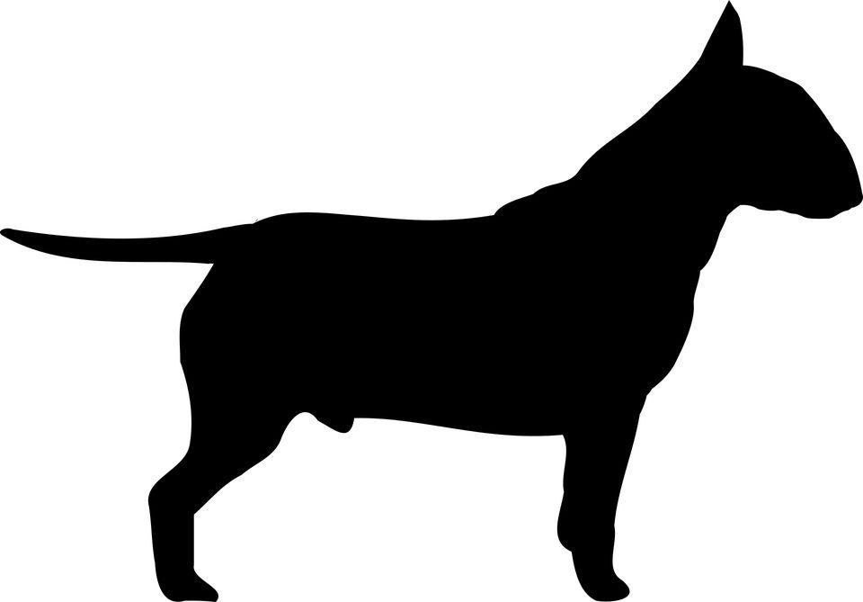 Staffordshire bull terrier sugar silhouette cut out