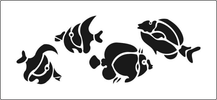 fishes stencils stencil cake decorating