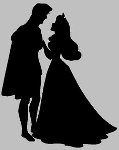 Snow white and the prince sugar silhouette cut out