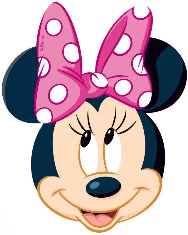 Minnie Mouse Head Sugar Icing Sheet