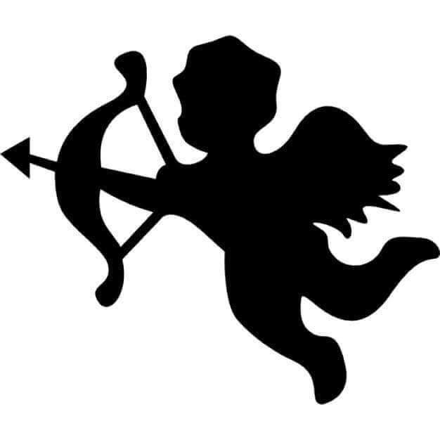 Cupid sugar silhouette cut outs