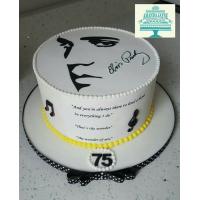 Elvis head on icing or sugar sheet