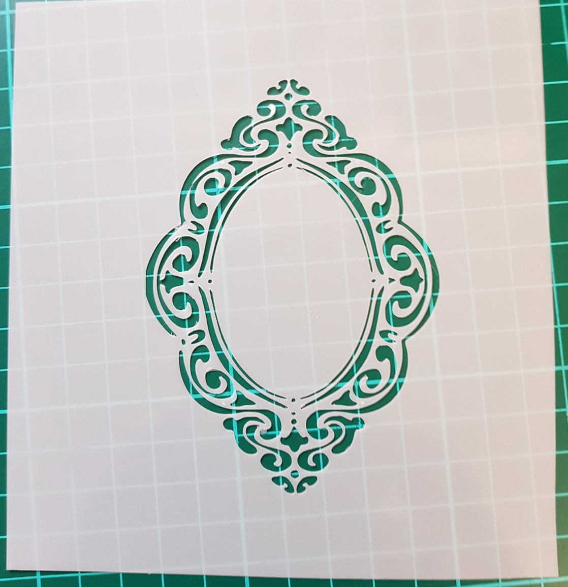 Broach or compact stencil