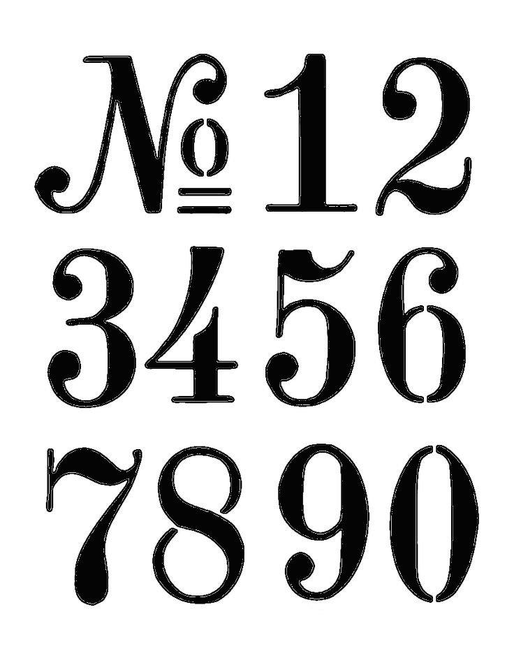 Number stencils cake decorating
