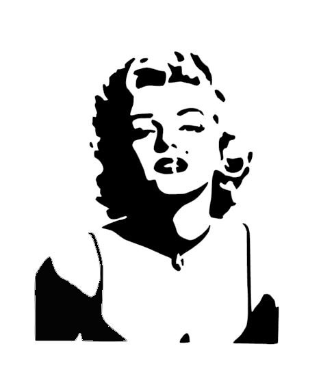Marilyn Monroe Stencil cake decorating