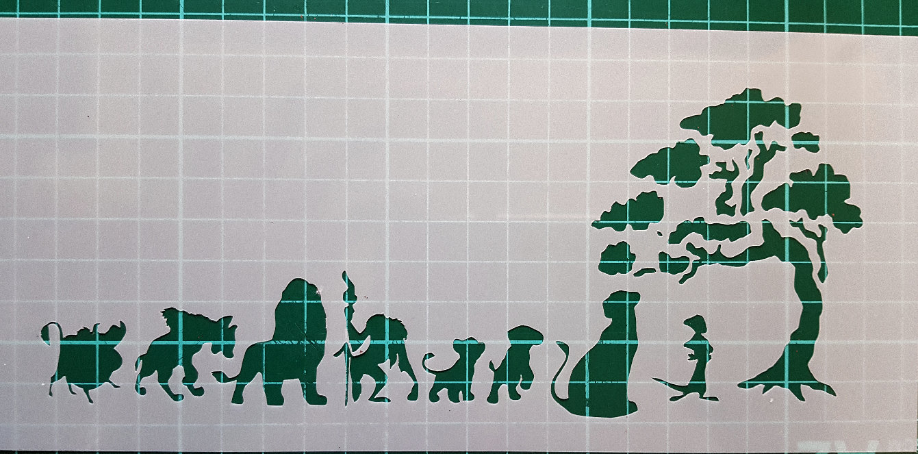 The lion king and friends stencil