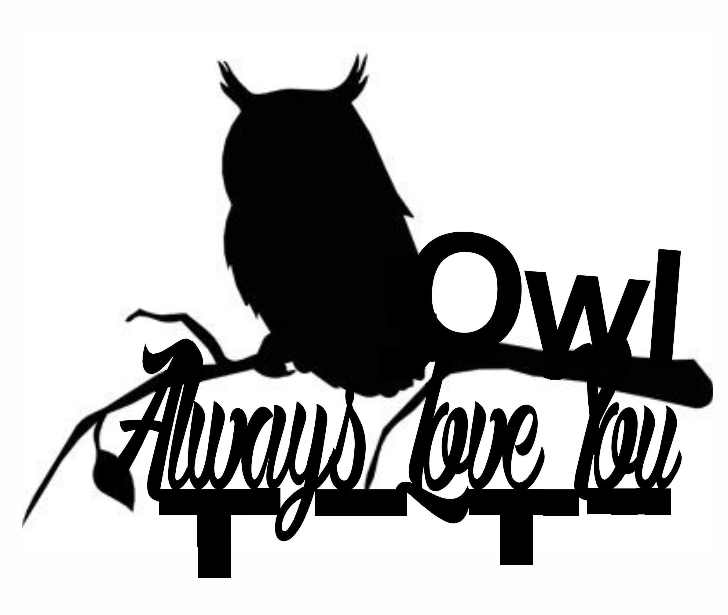 Owl always love you cake card topper