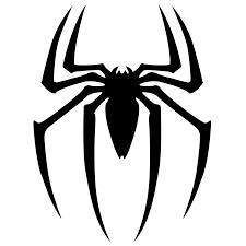 Spider stencil for cake decorating