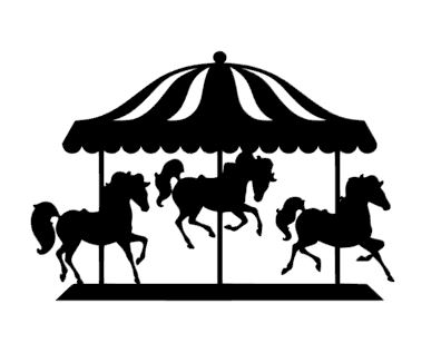carousel cake card topper