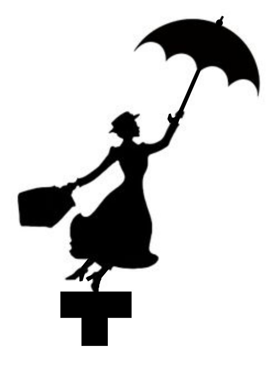 Mary Poppins cake card topper