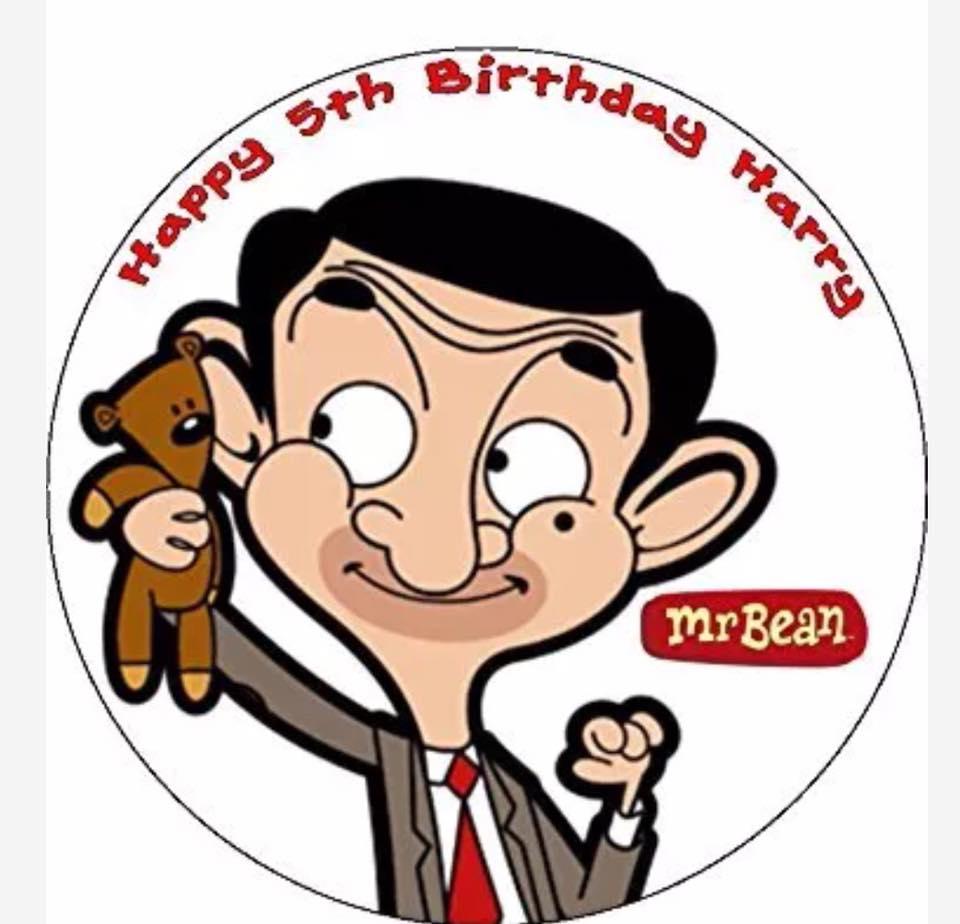 Mr Bean icing sheet or sugar sheet