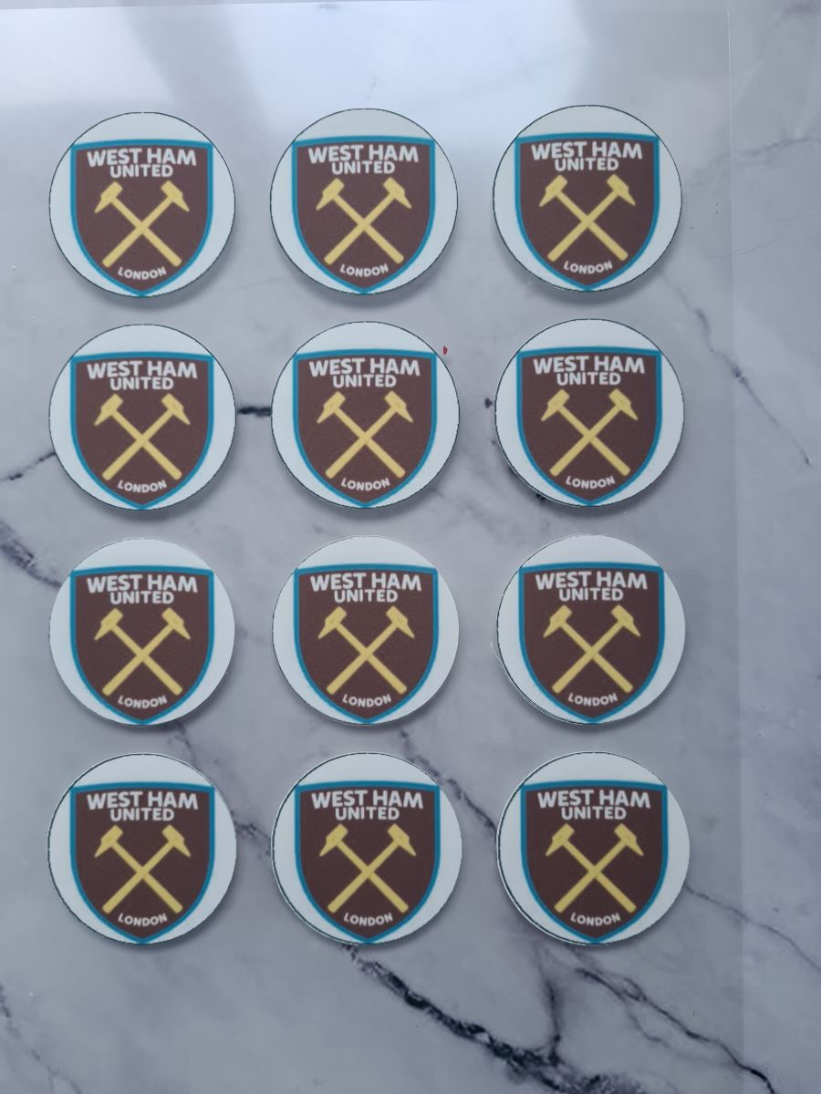 Westham cupcake toppers X 12