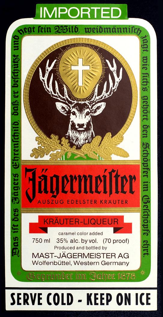 jägermeister bottle label Sugar Icing Sheet