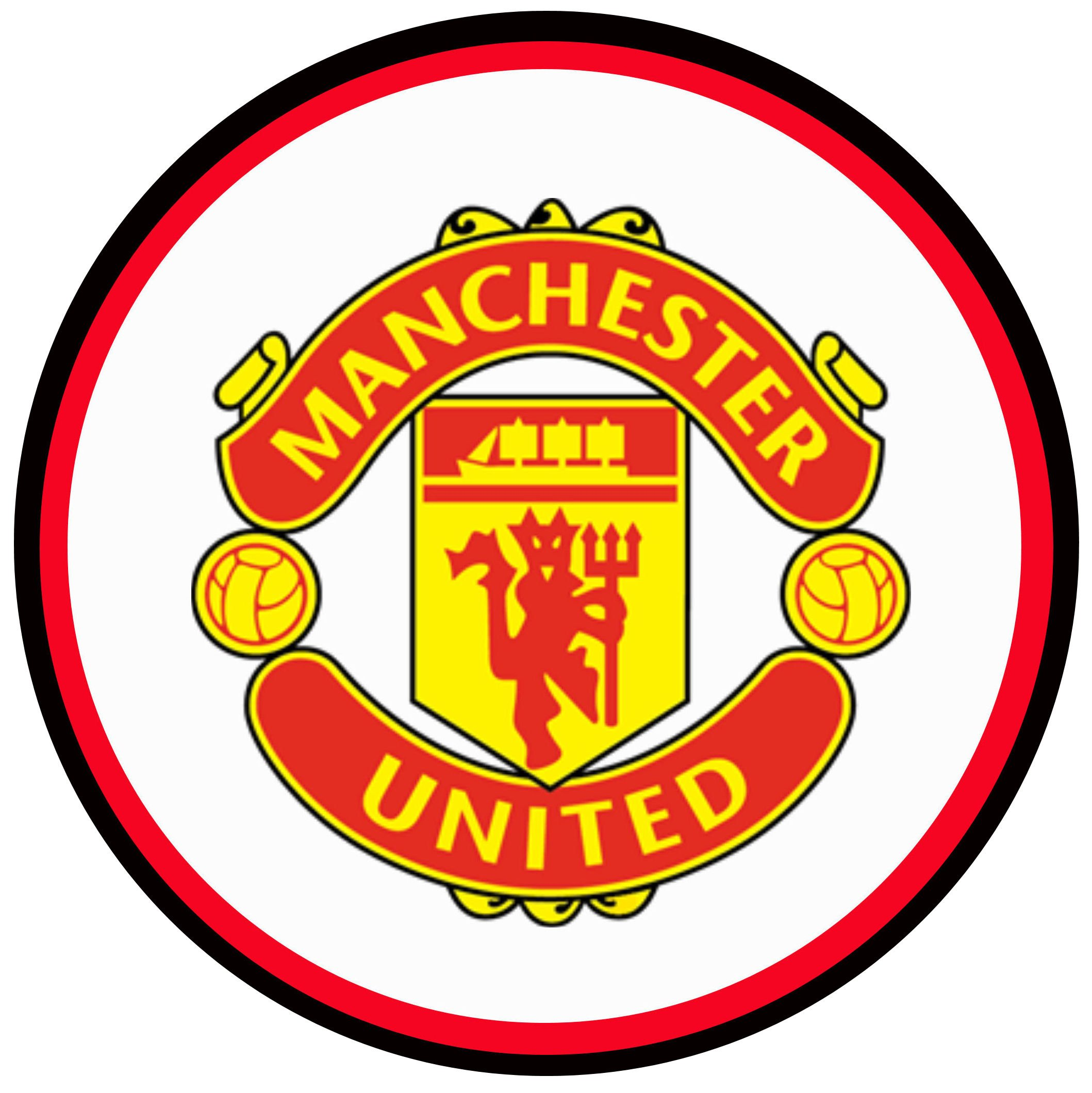 manchester united logo circle cake topper rh wagcakebits co uk  manchester united logo pictures download