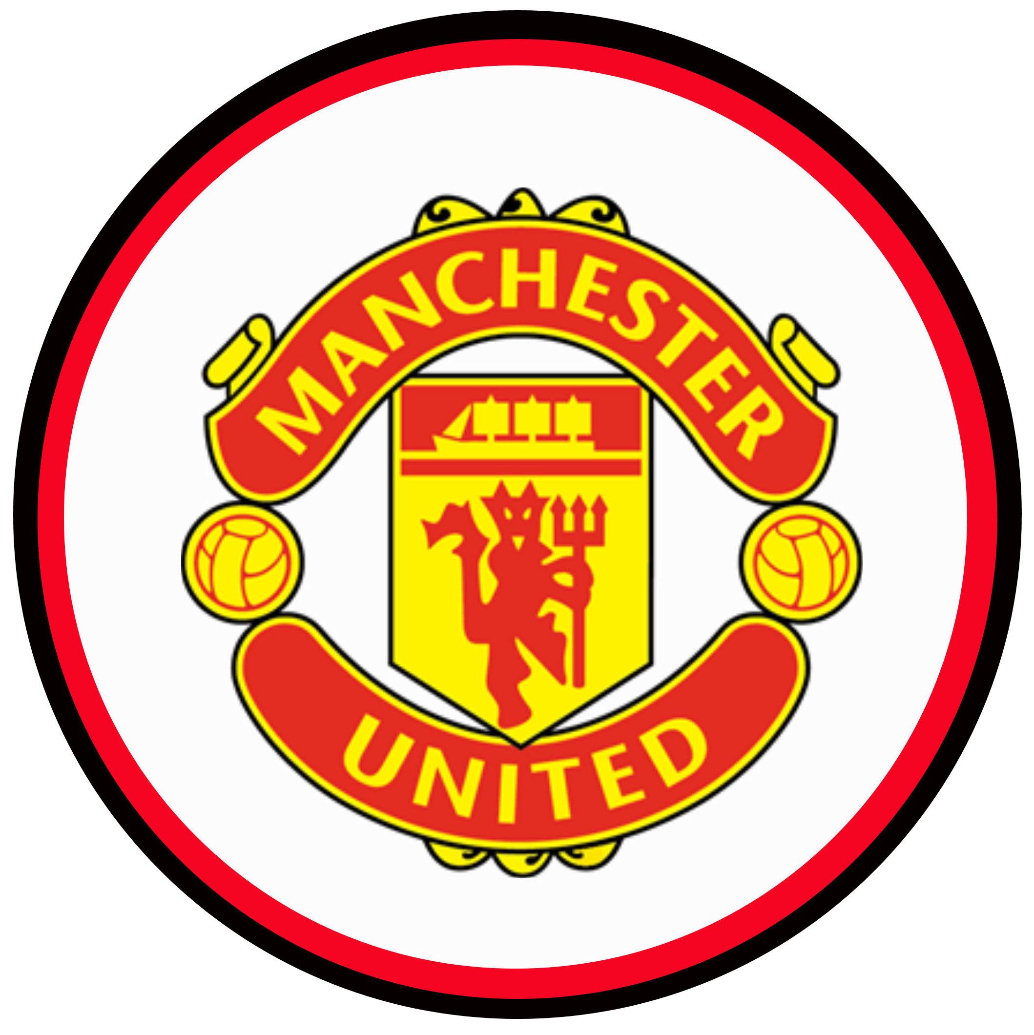 Manchester united logo circle Cake topper