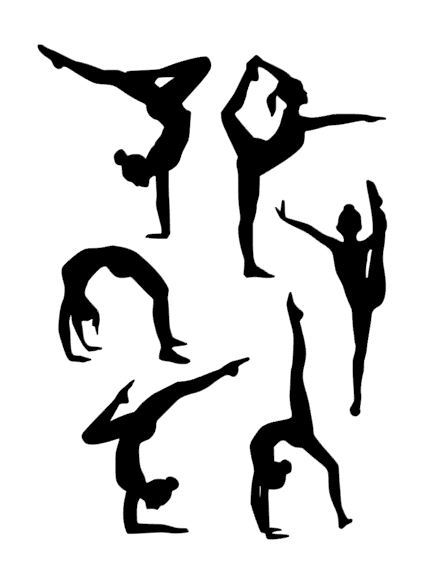 gymnastic silhouettes cut outs