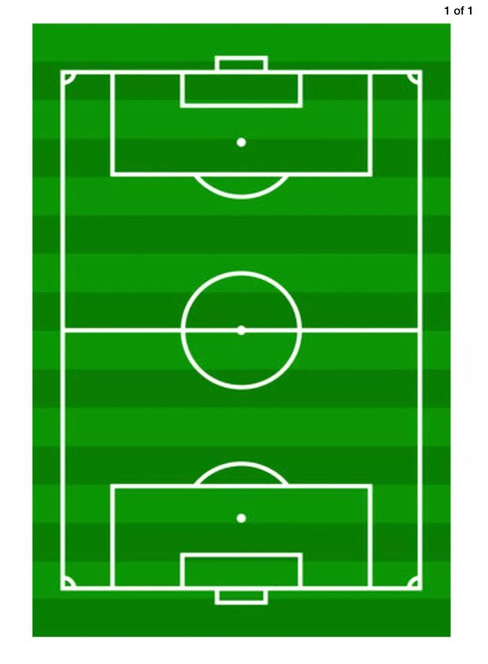 Football Field icing sheet or sugar sheet