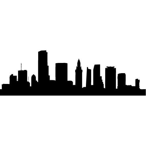 Buildings sugar silhouette cut out