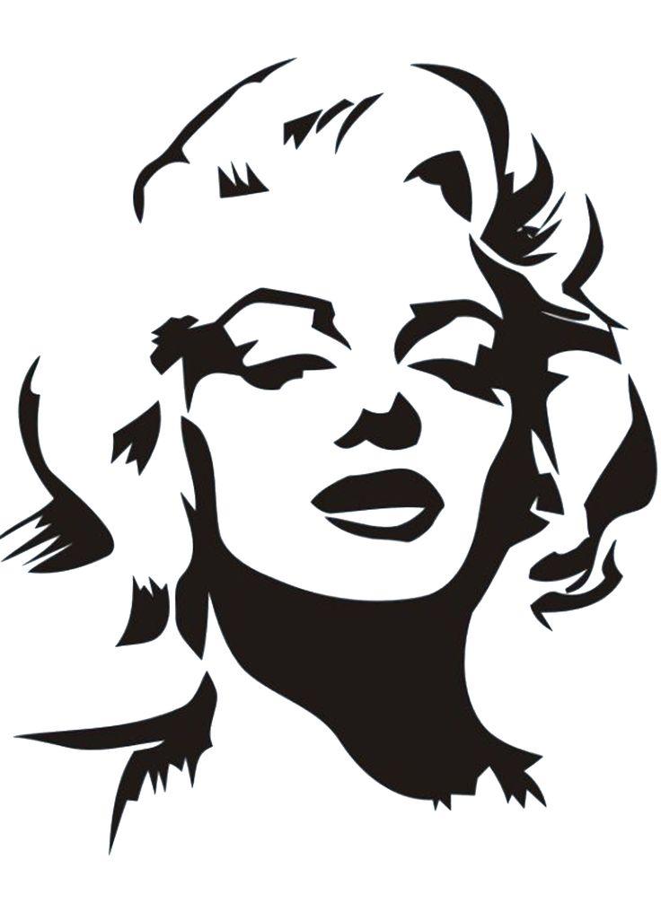 Marilyn Monroe head STENCIL