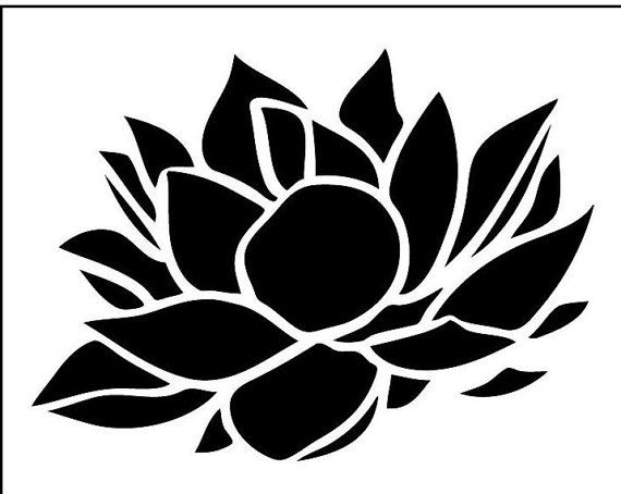 Lotus flower stencil cake decorating