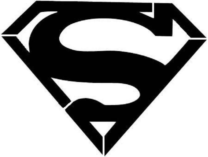 Superman Logo chest sign stencil