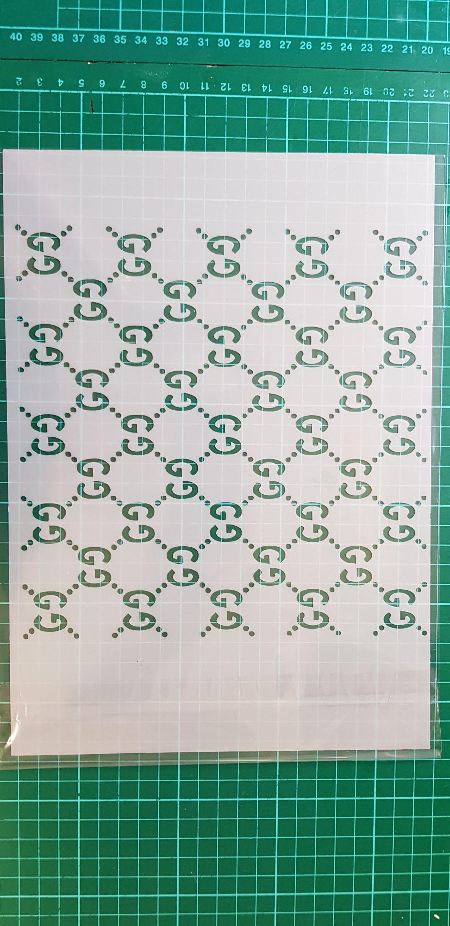 Gucci print icing sheet or sugar sheet