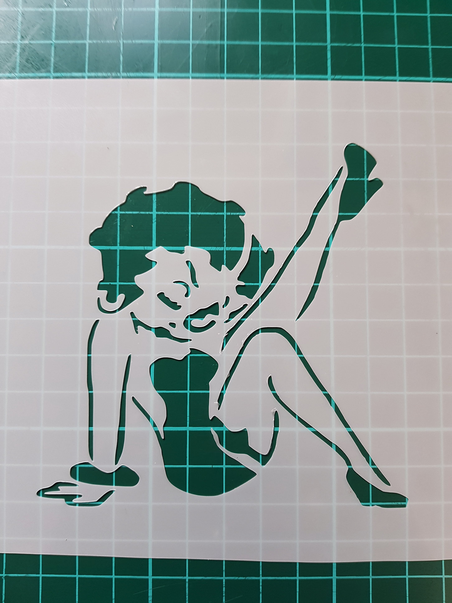 Betty Boop Stencils Cake Decorating