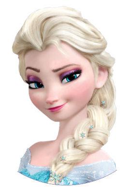 Elsa round or square icing sheet or sugar sheet cake topper