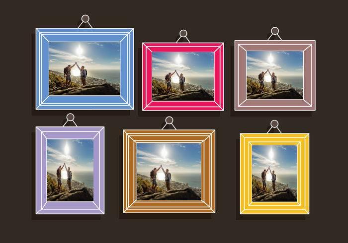 6 photos into photo frames with own photos icing sheet, sugar sheet A4