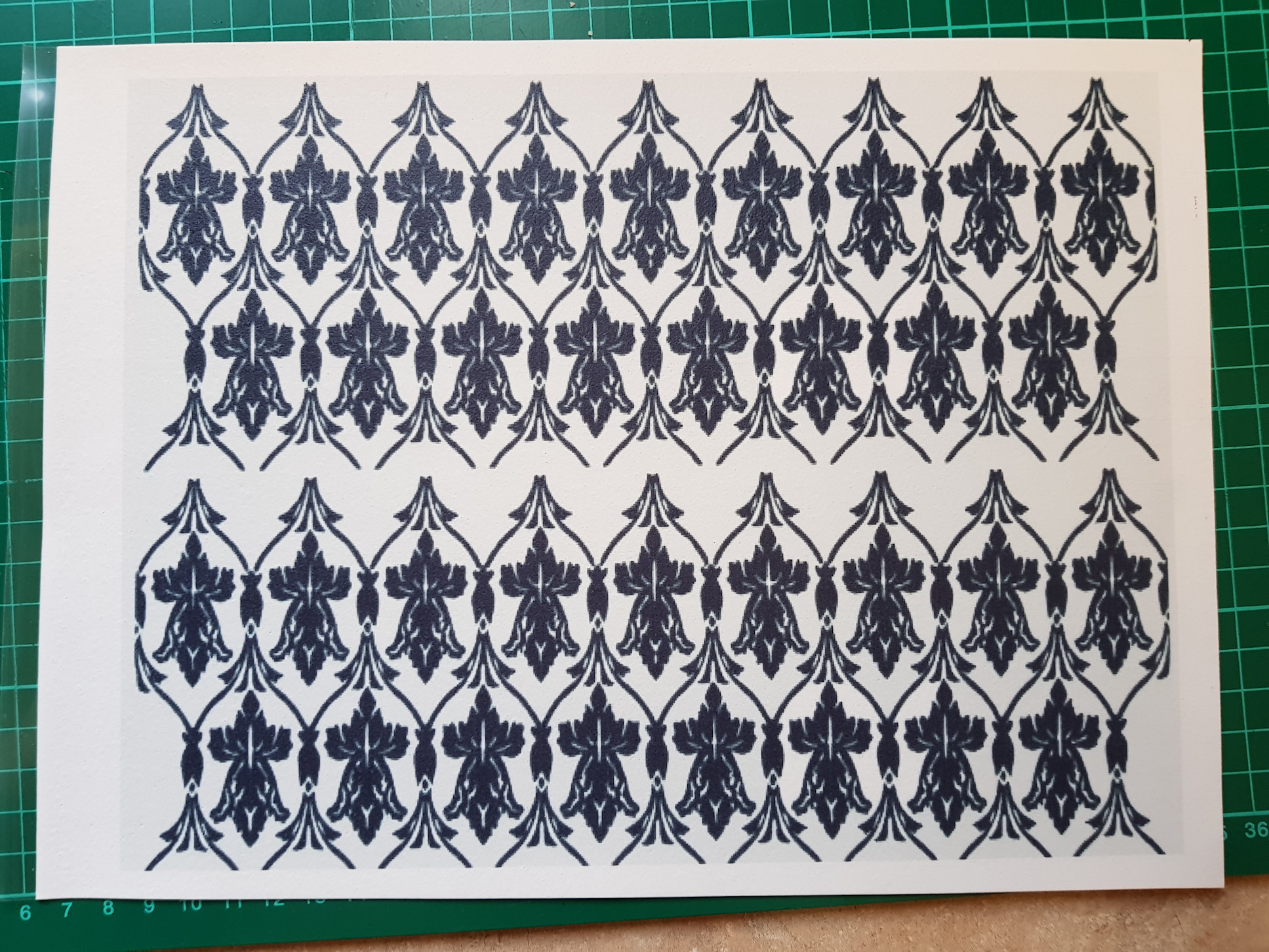 Sherlock Holmes wall paper icing sheet or sugar sheet