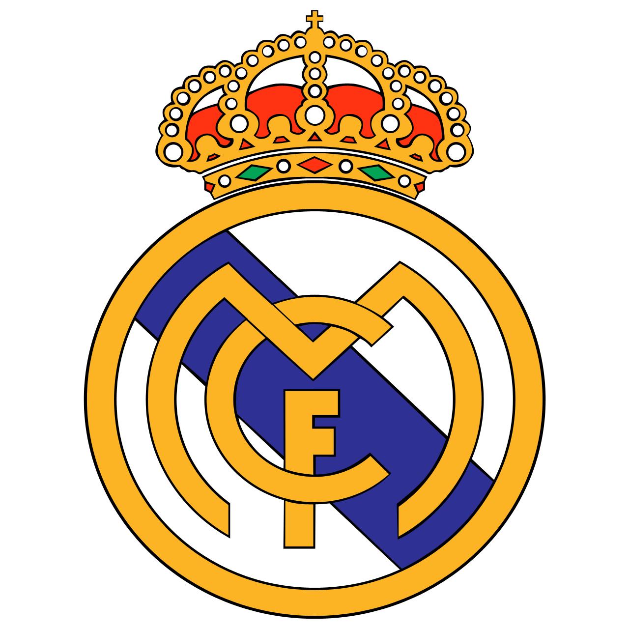 Real Madrid logo sheet or sugar sheet